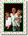 Boatman Geller Holiday Photo Mount Card - Confetti Dot