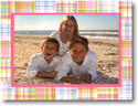 Boatman Geller Holiday Photo Mount Card - Pink Madras Patch