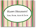 Boatman Geller Holiday Calling Card - Thin Holiday Stripe