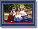 Boatman Geller Holiday Photo Mount Card - Beaded Navy