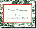 Boatman Geller Holiday Calling Card - Toile Dark Green & Red Check