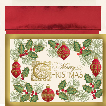 Antique Christmas OUT OF STOCK Pre-Printed Holiday Cards. by Masterpiece Studios