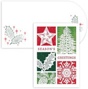 Masterpiece Studios - Pre-Printed Holiday Cards (Holiday Elements Laser Cut)