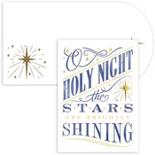 Masterpiece Studios - Pre-Printed Holiday Cards (Holy Night Laser Cut)