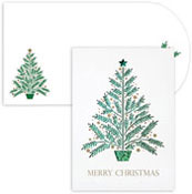 Masterpiece Studios - Pre-Printed Holiday Cards (Christmas Tree Laser Cut)