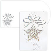 Masterpiece Studios - Pre-Printed Holiday Cards (Star Ornament Laser Cut)