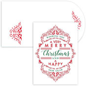 Masterpiece Studios - Pre-Printed Holiday Cards (Typography Laser Cut)
