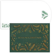 Masterpiece Studios - Pre-Printed Holiday Cards (Glitter Boughs & Pinecones Laser Cut)