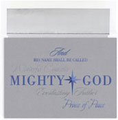 Masterpiece Studios - Pre-Printed Holiday Cards (Mighty God)