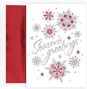 Masterpiece Studios - Pre-Printed Holiday Cards (Snowflakes)