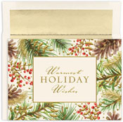 Masterpiece Studios - Pre-Printed Holiday Cards (Pineboughs And Berries)