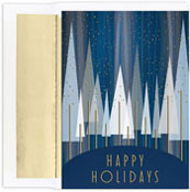 Masterpiece Studios - Pre-Printed Holiday Cards (Contemporary Trees)