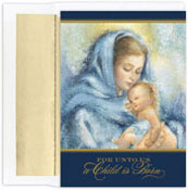 Masterpiece Studios - Pre-Printed Holiday Cards (Madonna & Child )