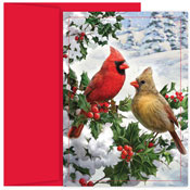 Masterpiece Studios - Pre-Printed Holiday Cards (Cardinal Couple)