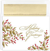 Masterpiece Studios - Pre-Printed Holiday Cards (Golden Berries)