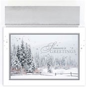 Masterpiece Studios - Pre-Printed Holiday Cards (Snowy Trees Greetings)