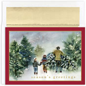 Masterpiece Studios - Pre-Printed Holiday Cards (Bringing Home The Tree)