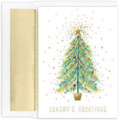 Masterpiece Studios - Pre-Printed Holiday Cards (Sparkle Tree)