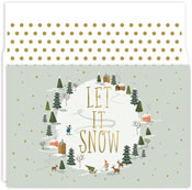 Masterpiece Studios - Pre-Printed Holiday Cards (Let It Snow)
