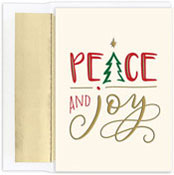 Masterpiece Studios - Pre-Printed Holiday Cards (Peace And Joy)