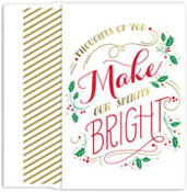 Masterpiece Studios - Pre-Printed Holiday Cards (Make Spirits Bright)