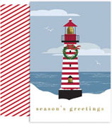 Masterpiece Studios - Pre-Printed Holiday Cards (Striped Lighthouse)