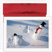 Pre-Printed Boxed Holiday Cards by Masterpiece Studios (Snowman Angels)
