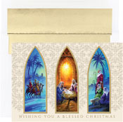 Pre-Printed Boxed Holiday Cards by Masterpiece Studios (Christmas Triptych)