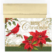 Pre-Printed Boxed Holiday Cards by Masterpiece Studios (Merry Christmas Cardinal)