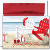 Pre-Printed Boxed Holiday Cards by Masterpiece Studios (Beach Chairs)