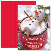 Pre-Printed Boxed Holiday Cards by Masterpiece Studios (Marshmallow Snowman)