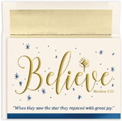 Pre-Printed Boxed Holiday Cards by Masterpiece Studios (Believe)
