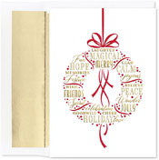 Pre-Printed Boxed Holiday Cards by Masterpiece Studios (Holiday Wishes Wreath)
