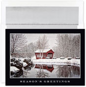 Pre-Printed Boxed Holiday Cards by Masterpiece Studios ( Glittering Covered Bridge )