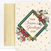 Pre-Printed Boxed Holiday Cards by Masterpiece Studios (Seasons Floral)