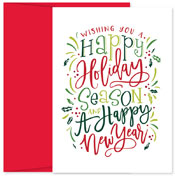 Pre-Printed Boxed Holiday Cards by Masterpiece Studios (Wishing You Happy)