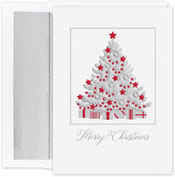 Pre-Printed Boxed Holiday Cards by Masterpiece Studios (Silver Shimmer Tree)