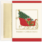 Pre-Printed Boxed Holiday Cards by Masterpiece Studios (Santas Elegant Sleigh)