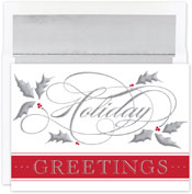 Pre-Printed Boxed Holiday Cards by Masterpiece Studios (Silver Swirl Holiday)