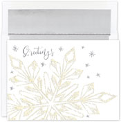 Pre-Printed Boxed Holiday Cards by Masterpiece Studios (Glittering Snowflake)