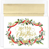 Pre-Printed Boxed Holiday Cards by Masterpiece Studios (Merry Pines)