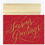 Pre-Printed Boxed Holiday Cards by Masterpiece Studios (Seasons Greetings Sparkle)