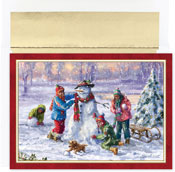 Pre-Printed Boxed Holiday Cards by Masterpiece Studios (Building Frosty)