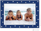 Sweet Pea Designs Holiday Photo Mount Cards - Foil Stars on Navy