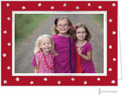 Sweet Pea Designs Holiday Photo Mount Cards - Foil Stars on Red
