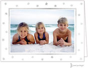Sweet Pea Designs Holiday Photo Mount Cards - Foil Stars on White