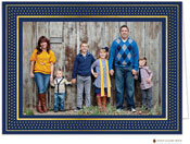 Stacy Claire Boyd Holiday Photo Mount Cards - Bright Marquee Navy with Foil