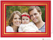 Stacy Claire Boyd Holiday Photo Mount Cards - Brightly Framed Red