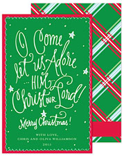 PicMe Prints - Holiday Greeting Cards (O Come Let Us Adore Him)