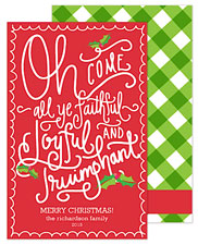 PicMe Prints - Holiday Greeting Cards (O Come All Ye Faithful)